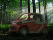 Offer the conceptual design and rendering of a UTV vehicle.