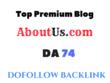 Publish a guest post on PREMIUM  Aboutus.com DA74
