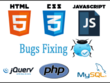 Fix/debug PHP,MySQL,Javascript,jQuery,AJAX,HTML,CSS errors