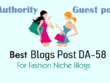 FASHION Blogs Post DA-58 | Write and Publish Guest Post