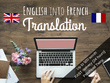 Translate English to French - Up to 500 words