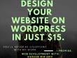 Design a stunning wordpress website with SEO .