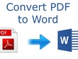 Convert PDF to and from Doc,Docx,JPG,PNG