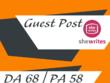 Guest Post On Women Niche Blog Shewrites - Shewrites DA 68
