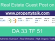 High Quality Guest Post on a DA 33 Real Estate Website