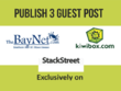 Publish 3 guest post on baynet, kiwibox,stackstreet
