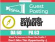 Write & Publish a guest post on SocialMediaExplorer.com DA60