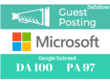 Write And Publish A Guest Post On Microsoft DA 100 PA97 Dofollow