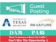 Publish a Guest Post on University of Texas - uta.edu DA 75