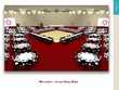 Prepare an event planning with a 3D render