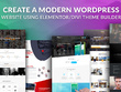 Create a modern WordPress Website with Elementor/Divi  + SEO