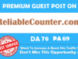 Publish Guest Post On Reliable Counter ReliableCounter.com DA 76