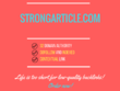 Add a guest post on strongarticle.com, DA 32