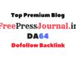 Guest Post on Freepressjournal - Freepressjournal.in- DA64, PA54