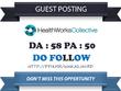 Guest Post on Healthworkscollective.com DA 58 Dofollow Link