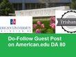 Guest Post on American UniversityEducation Blog On DA 81DoFollow