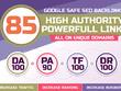 Create Manually 85 Powerful Authority Backlinks DA 100 TF 100