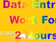 Do all tipe data entry work 2 hours