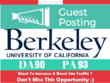 Publish a guest post on Berkeley - Berkeley.edu