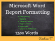 Format 2500 words - Microsoft Word Report and Document