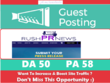 Write & Publish Guest Post on Rushprnews.com DA 50