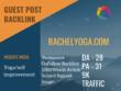Yoga/self improvement Related Guest post on rachelyoga.com DA 28