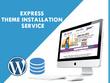 Install WordPress theme and setup demo content
