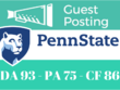 Guest Post on Pennsylvania State University. psu.edu DA 95