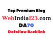 Guest Post on Webindia123 - Webindia123.com- DA70