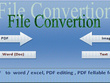 Convert Pdf to word or image to text up to 30 pages