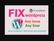 Fix wordpress website issues or errors in 12 hrs