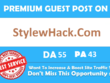 Write & Publish Guest Post On StylewHack StylewHack.com DA 55