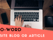 Create a 500-word blog post for your website