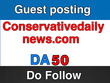 Guest post on Conservativedailynews.com - DA 50