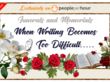 Write an eulogy speech for a dignified funeral or memorial