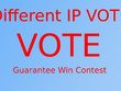 250 USA Different IP votes, single ip votes your online contest