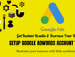 Create a Google Search Display Account For You.
