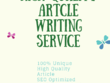 Write SEO Optimized Article