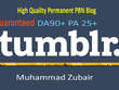 Permanent Aged Tumblr Pbn Backlinks With Guaranteed Pa 25+ DA 10