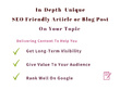 Write an in-depth SEO based article of 2000 words on your topic