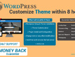 Customize wordpress themes within 8 hr
