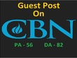 Publish Dofollow Guest Post on CBN News DA 93 (Offer)
