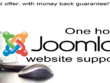 One hour of Joomla support