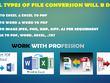 Convert files for any format like, PDF, WORD, EXCEL, .TXT & JPEG