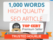 ★ Research & Write SEO article on any topic   1,000 words ★