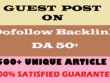 Write and Publish 5 Guest Posts on 5 Different Dofollow HQ DA30