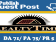 Write & Publish a guest post on Realtytimes. com, Playbuzz. com