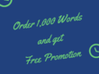 I'll Write 1,000 Words Plus Free Promotion
