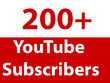 Add 200 real and active YouTube subscribers to your channel