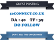 Write & Publish a guest post on 50connect.co.uk DA 40 TF 39